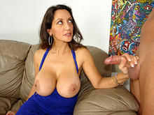 Mrs. Persia Makes Cock Spurt On Juggs