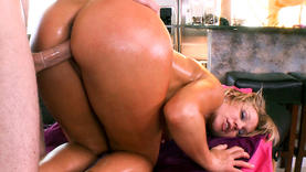 blond pornstar getting hot massage in the spa