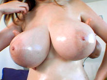 Amazing natural big tits
