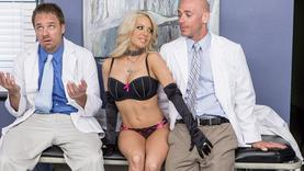 big tits blonde pornstar jerk off cock with doctor