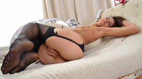 shaved russian pornstar in lingerie