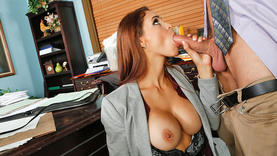 big tits milfs pussy licked on work