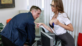 big tits milfs in the office