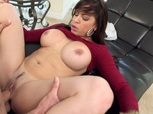Big-boobed Julianna Vega having missionary sex