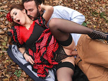 Fiery Hardcore in The Woods: Flamenco Dancer Needs Cock