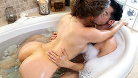 hairy cowgirl gets hot cum