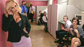 blonde milf getting rough sex in office