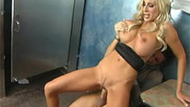 oiled blond milf in the club