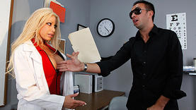 gina lynn in lingerie with doctor