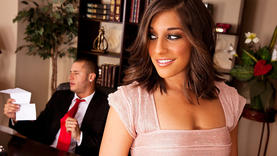 hot mischa brooks in the office