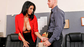 shay sights in lingerie gets a lot of cum in office