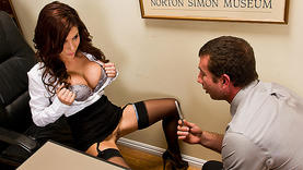 hairy latina girl gets facial in office