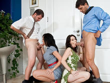 Rayveness, Alia Janine, Ramon Nomar & Ralph Long in Seduced by a cougar