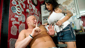 big tits deja voo doing handjob