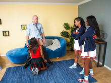 Skin Diamond , Leilani Leeane, Ana Foxxx & Johnny Sins in 2 Chicks Same Time